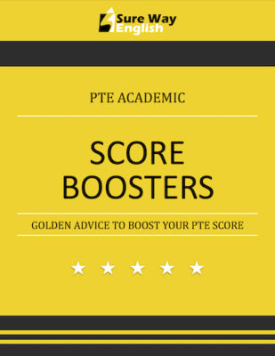 PTE Score Boosters Book