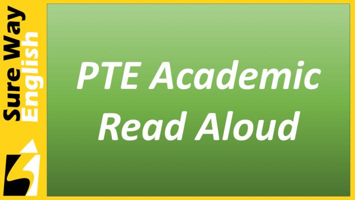 PTE Read Aloud Introduction