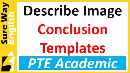 Conclusion templates for PTE Describe Image