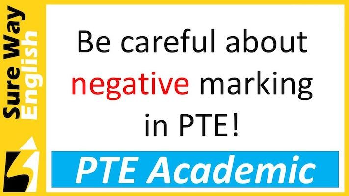 Negative marking in PTE Academic